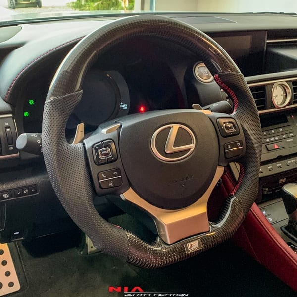 Lexus Carbon Fiber Steering Wheel For IS, RC, And ES