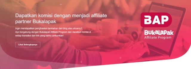 halaman program afiliasi bukalapak