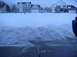 Freshly fallen snow ready to plow.