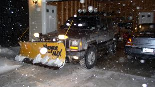 Jeep Cherokee with Meyer plow.