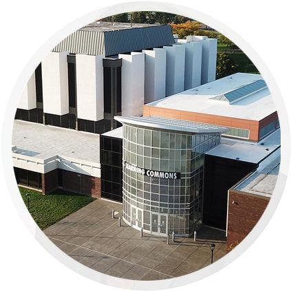 College aerial photo