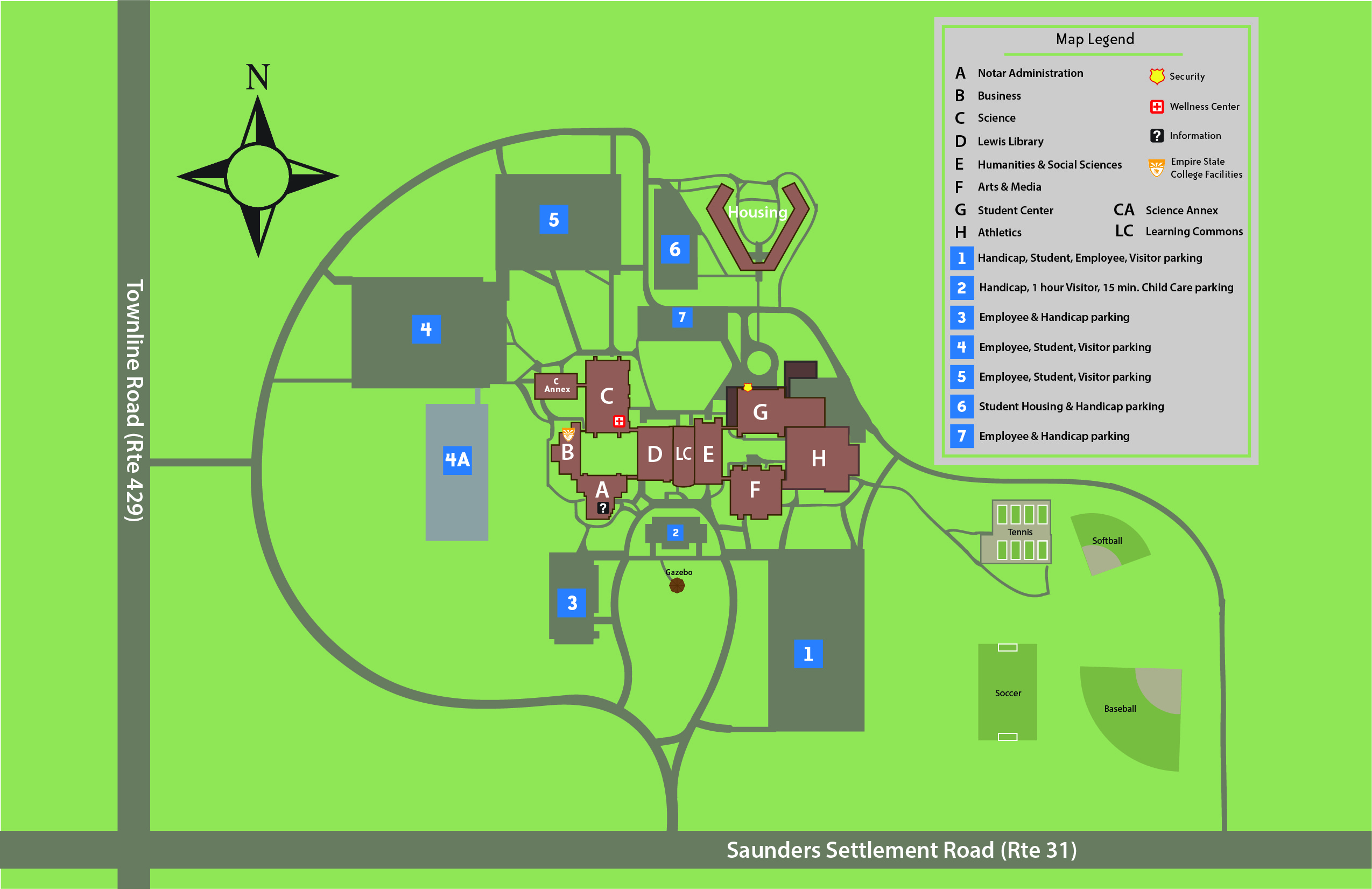 Campus building map