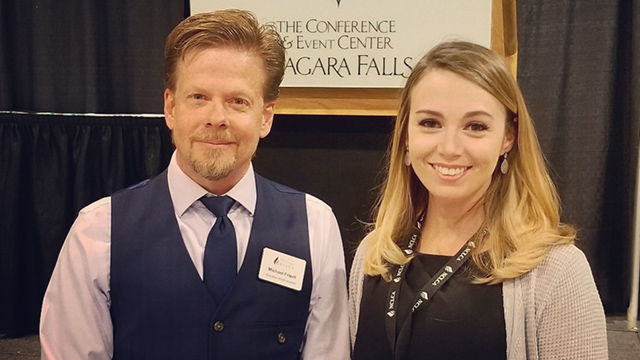 Madison Ackerman with NCLCA President, Michael Frizell