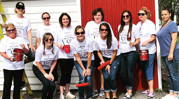 NCCC employees participated in the United Way Day of Caring by spending time working on a painting project at Empower in Niagara Falls.