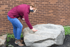 Tami Scruggs Placing Rock