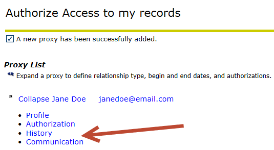 authorize access to my records