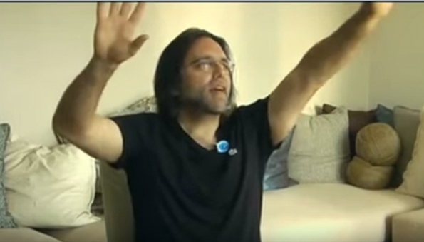 Keith Raniere, teaching ethics, has an emotive moment on camera.
