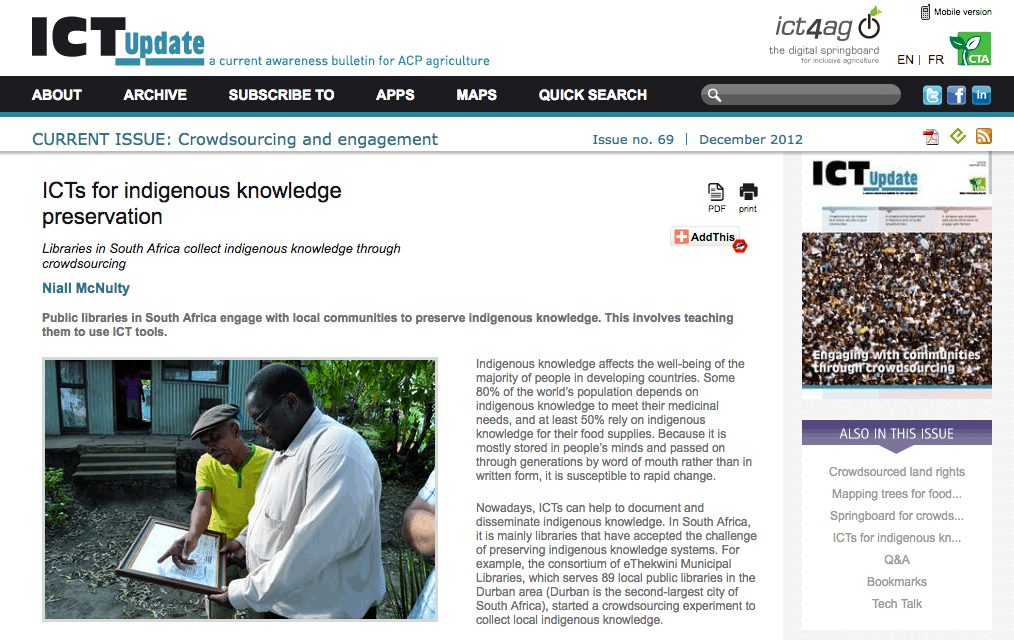 ICTS for Indigenous Knowledge Preservation