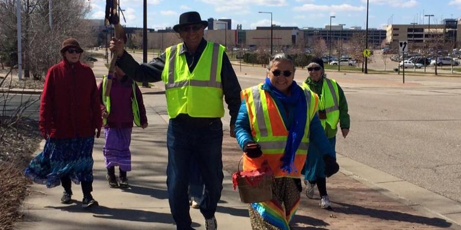 Walkers on the Minnesota River Water Walk