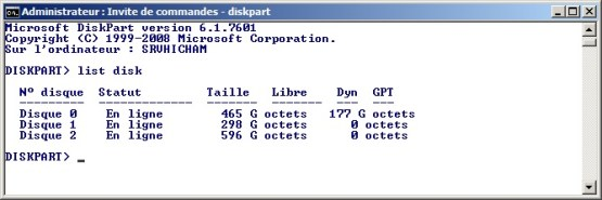 WinPE Select disk