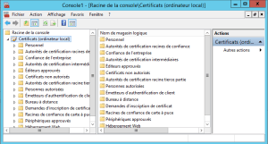 Access to certificate store