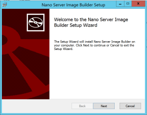 Nano Server Image Builder Install tools