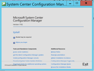 Update SCCM 2012 R2 to SCCM CB Wizard is lauched