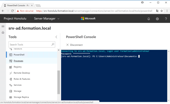 Access to Powershell