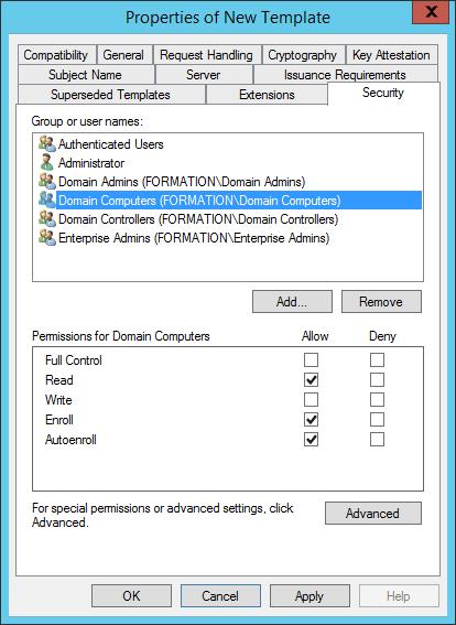 Configure CMG Configure security
