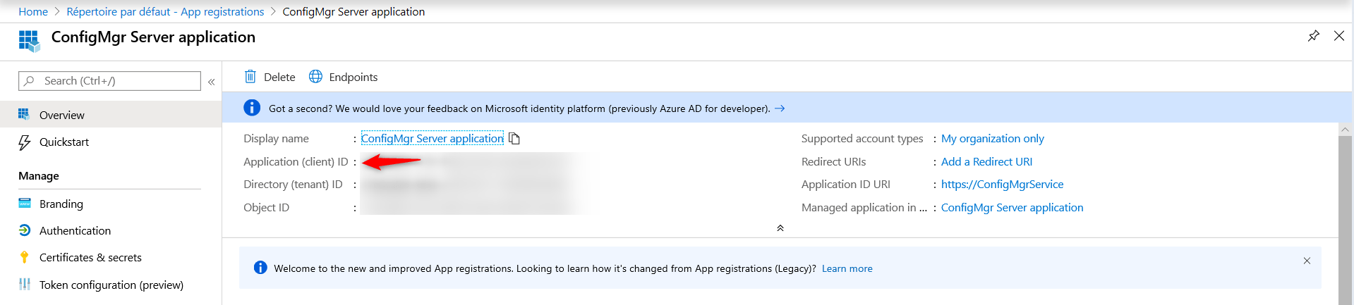 Copy Application ID