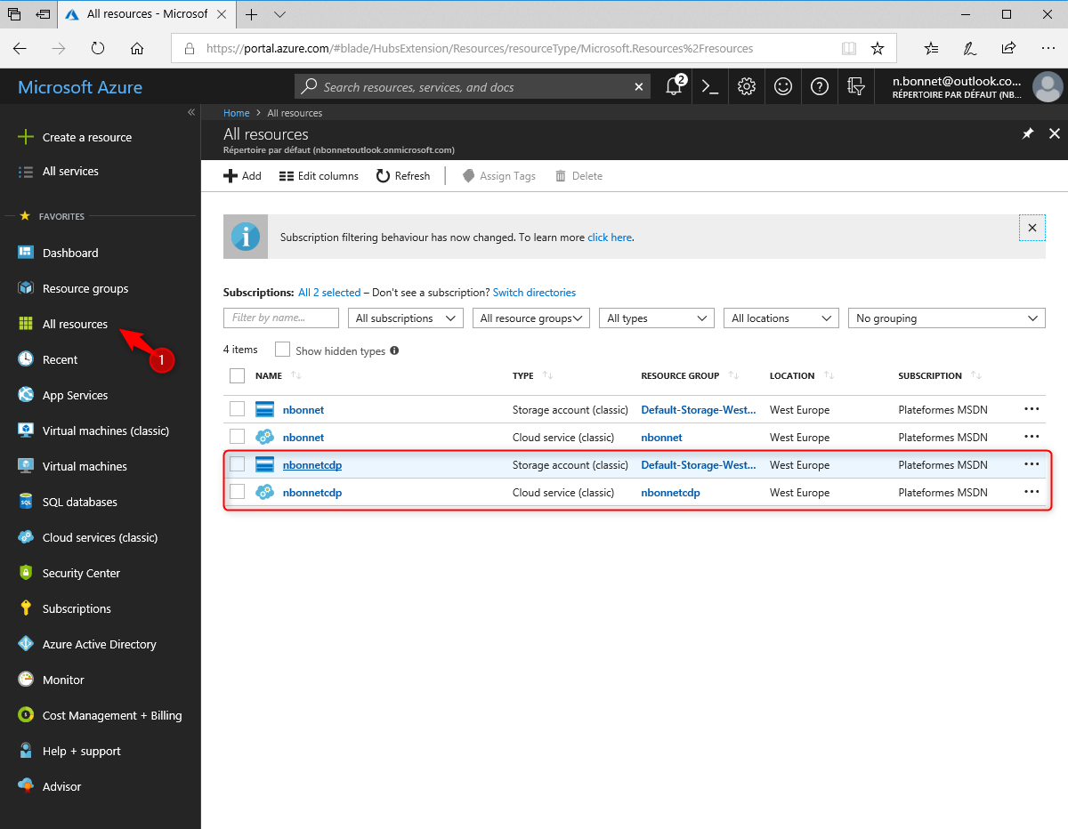 Ressource on Azure Distribution point