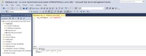 Verify sp_configure.