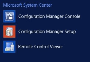 Install of Configuration Manager