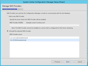 Uninstall SMS PXE on old server