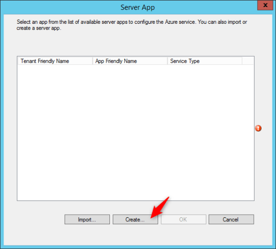 Create Azure AD application