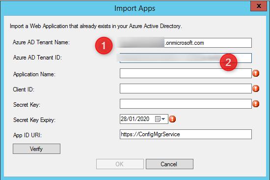 Configure application