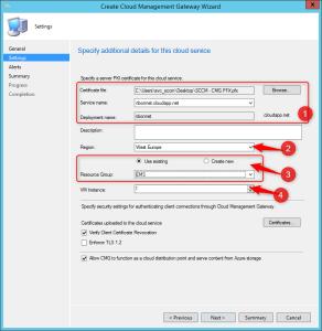 Configure Azure Cloud Management Gateway