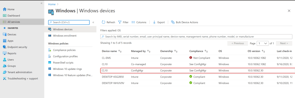 Launch sync operation from Microsoft Intune