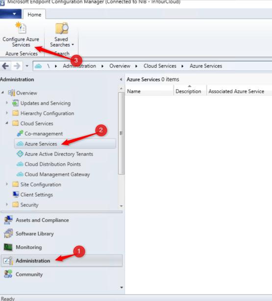Configure Azure Services on Azure
