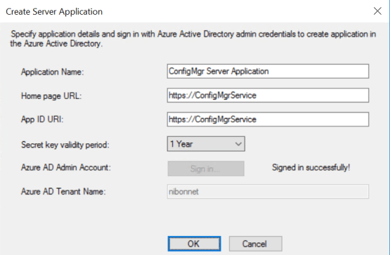 Admin credential for Azure Services