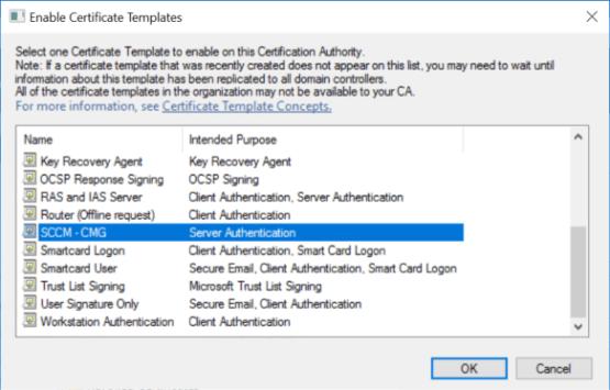 Add certificate on Certificate template node