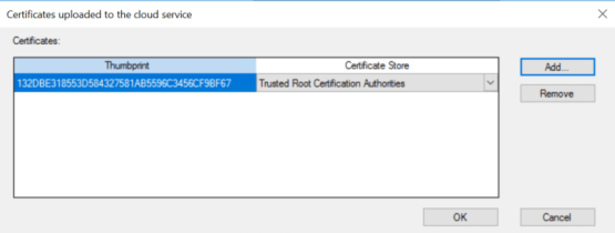 add root certificate