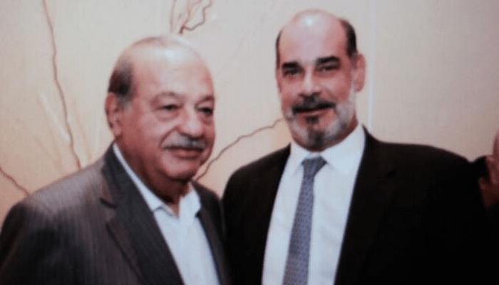 Michael Healy con Carlos Slim