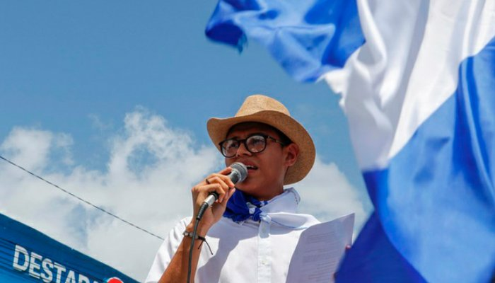 Lesther Alemán el joven que encaró a Daniel Ortega