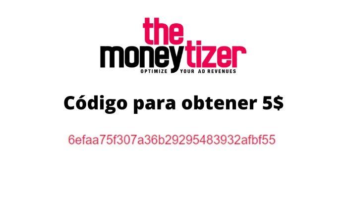 Código para ganar cinco dólares en TheMoneytizer