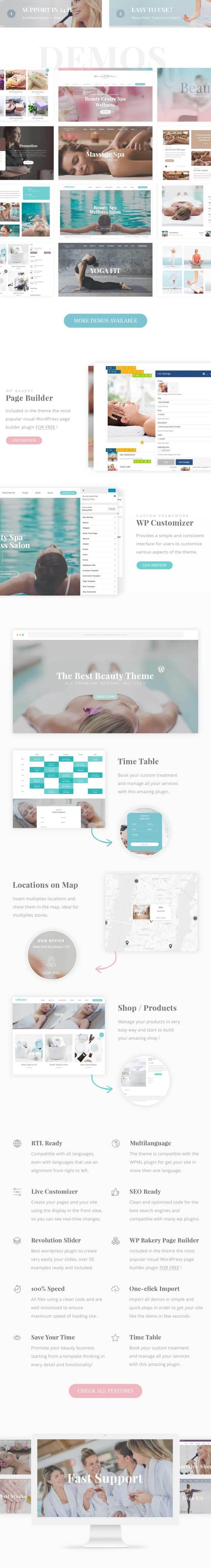Beauty Pack - Wellness Spa & Beauty Massage Salons WP - 1