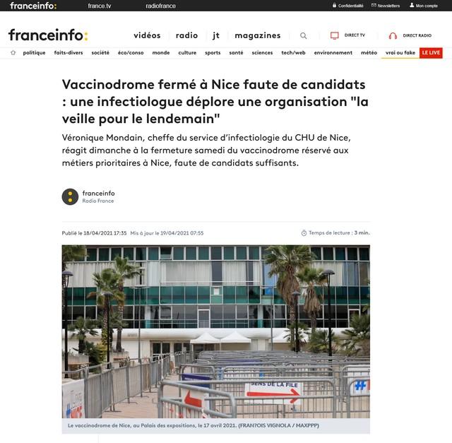 Vaccinodrome fermé à Nice faute de candidats