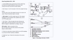Harley Davidson Wire Harness LED Daymaker Headlight