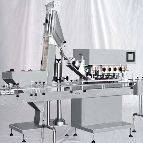Inline Spindle Capping Machine High Speed Bottles Screw