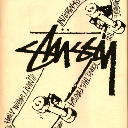 Stussy ad, with skateboard