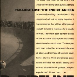 paradise lost article Pipeline skatepark Salba Malba. the end of an era.