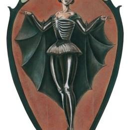 halloween bat girl vintage