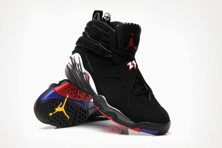 d17fa3c754be12 Air Jordan 8 Black Varsity Red-White