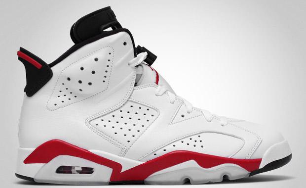 Air Rouge Et Blanc Jordans 6s