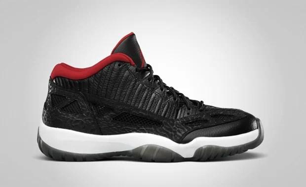 Air Jordan 11 Low IE Black/Varsity Red-White