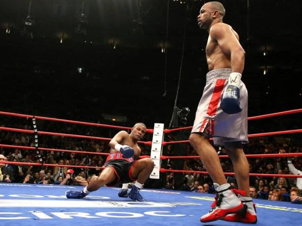 Roy Jones Jr. in the Jordan Boxer White/Red