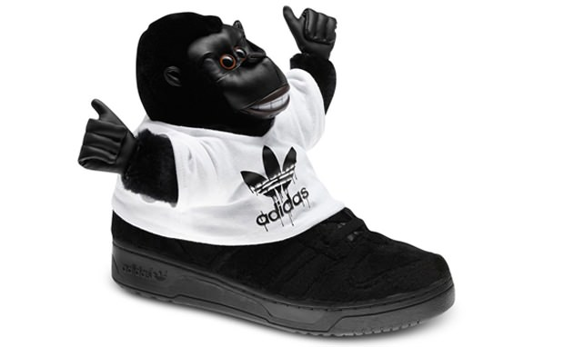 Jeremy Scott Adidas Monkey Sneakers | Purse and shoes