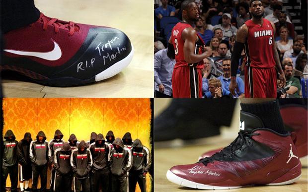 meet bcaa8 397db Kicks On Court  Dwyane Wade, LeBron James Honor Trayvon Martin with Shoes