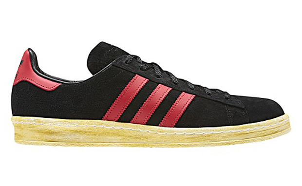 reputable site dd871 54134 mita x adidas Campus 80s BlackUniversity Red
