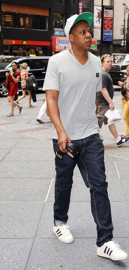 sports shoes 35058 51de0 Jay-Z in the Pusha T x adidas EQT Running Guidance 93 Celebrity Sneaker  Stalker